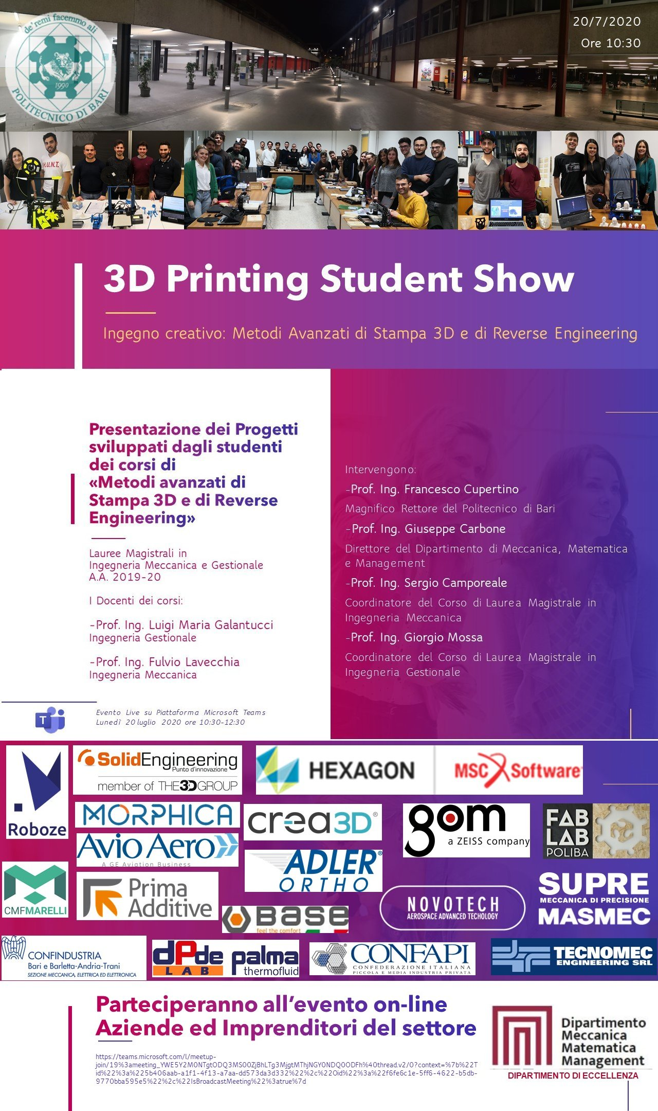3d printing studen show