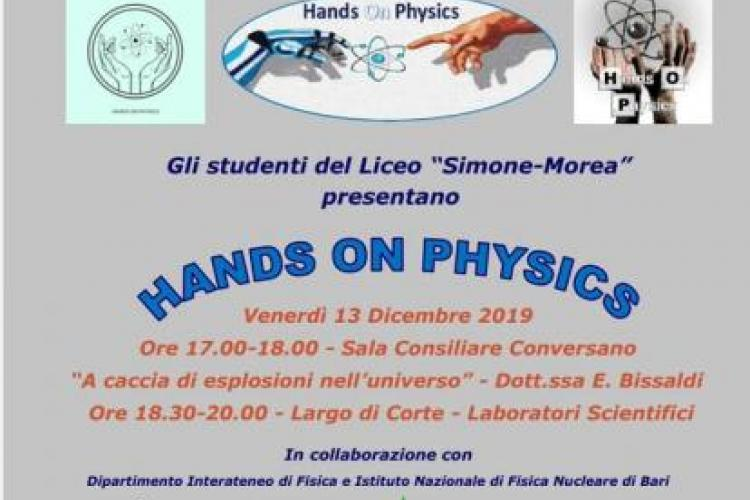 "Locandina Evento ""Hands On Physics"""
