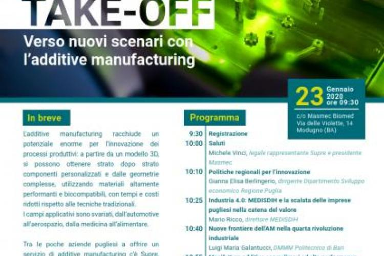Take-off SUPRE Additive Manufacturing