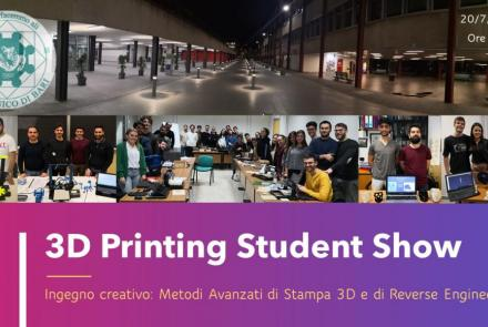 immagine evento 3d printing student show