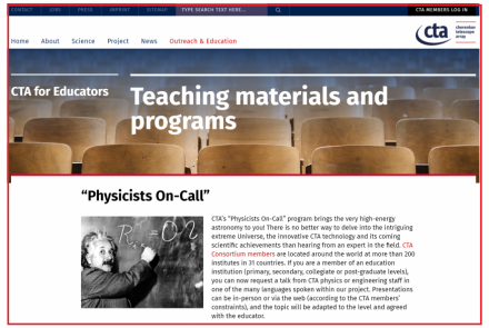 "Locandina CTA ""Physicists On-Call"""